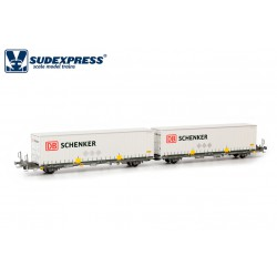 Container carrier wagon DB Schenker, RENFE.