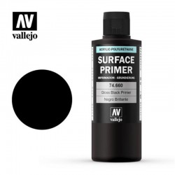 Surface acrylic-poliurethan, gloss black. 200 ml.