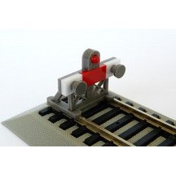 Buffer stop with light.
