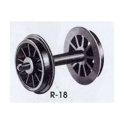 Wheels spoked tender.