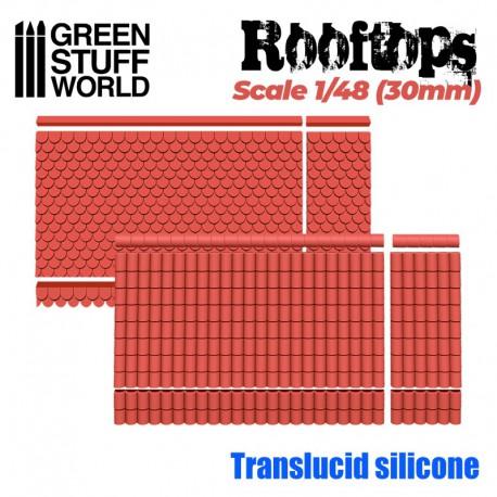 Moldes de silicona tejados.