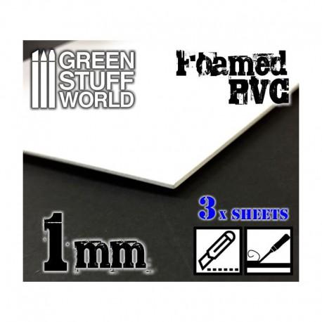 Foamed PVC 1,0 mm (x3).