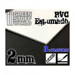 PVC espumado de 2.0 mm (x3).