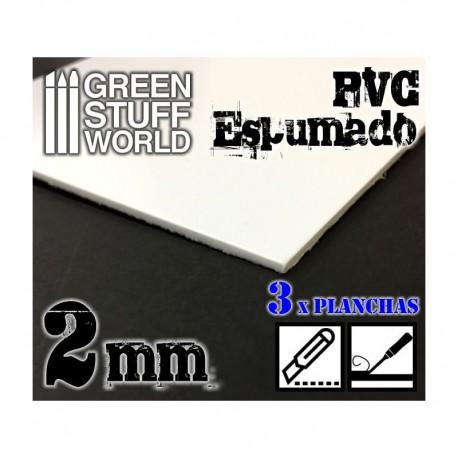 Foamed PVC 2,0 mm (x3).