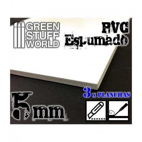 Foamed PVC 5.0 mm (x3).