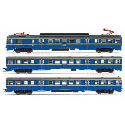 Automotor eléctrico 440, RENFE. Azul y amarillo.