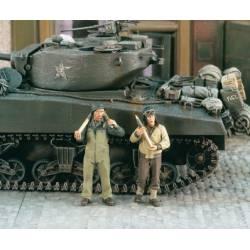 Cargando munición en tanques. USA. VERLINDEN 1960