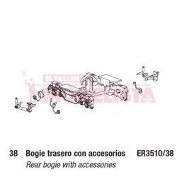 Rear bogie with accessories. For TRD.