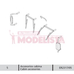Cabin accessories for RENFE 352.