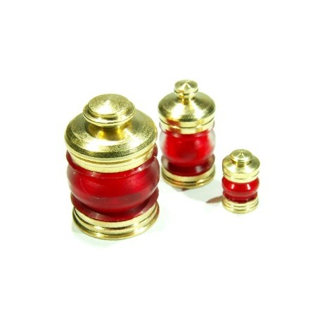 Lamp, red (x3). RB 071-06