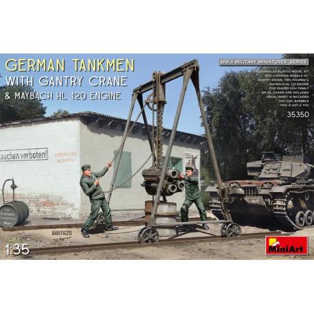German tankmen and Gantry crane.