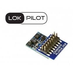 Decoder LokPilot micro V5.0 DCC, PluX16.