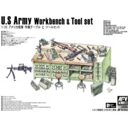 US army workbench and tool set.