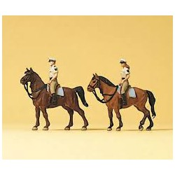 Police on horseback.