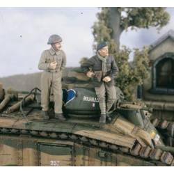 Carristas franceses en 1940. VERLINDEN 2334