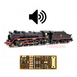 Sound decoder for RENFE Mikado (coal), 6 pins. D&H