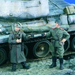 Oficiales soviéticos. WWII. VERLINDEN 1896
