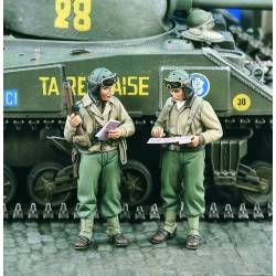 Comandantes carristas estadounidenses. WWII. VERLINDEN 1609