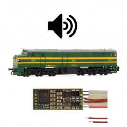 Sound decoder for RENFE 316, 6 pins. D&H