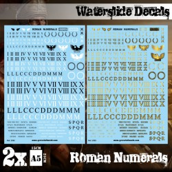 Waterslide Decals. Roman Numerals