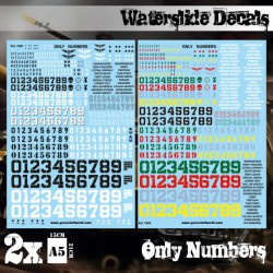 Waterslide Decals - Only Numbers.