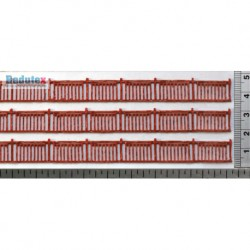 Polychrome red railing.