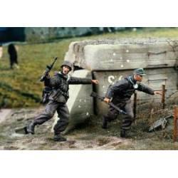 Infantería alemana cargando. VERLINDEN 1405