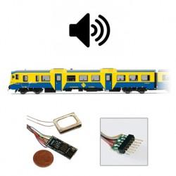Decoder Loksound micro 4.0, 6 pins.
