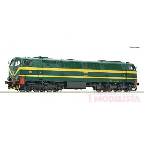 Diesel locomotive series 333, RENFE. Sound.