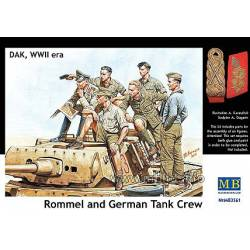 Rommel and German Tank Crew, DAK, WW II era. MASTER BOX 3561
