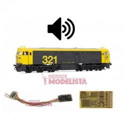 Sound decoder for RENFE 321, 21 pins. D&H