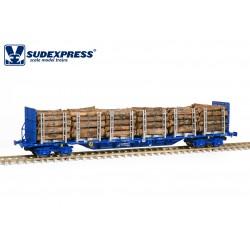 Plataforma Sgnss, Takargo con troncos de madera.
