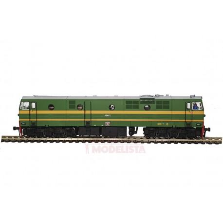 Diesel locomotive 1957, RENFE. Sound.