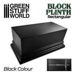 Pedestal rectangular, negro 12x6cm.