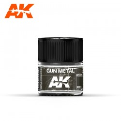 Gun Metal, 10ml. Real Colors.