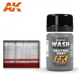 Neutral grey wash.