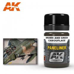 Paneliner for brown and green camouflage.