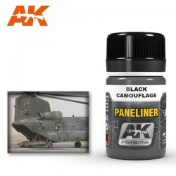 Paneliner for black camouflage.