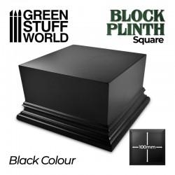 Pedestal cuadrado, negro 10x10cm.