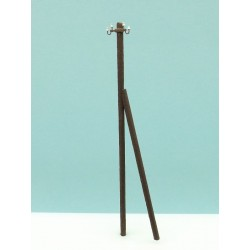 Electric wood pole, with support. RB 2850