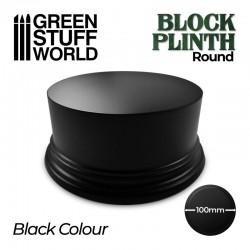 Pedestal redondo, negro 10cm.
