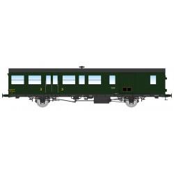 Coche furgón de 3a clase de 15m, SNCF.