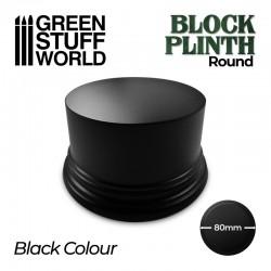 Pedestal redondo, negro 8cm.