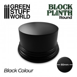 Round block plinth 8cm.