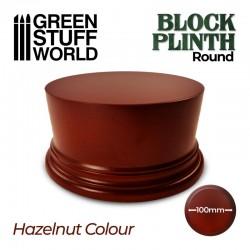 Round block plinth 10cm. Hazelnut.