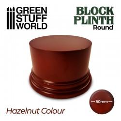 Pedestal redondo, marrón 8 cm.