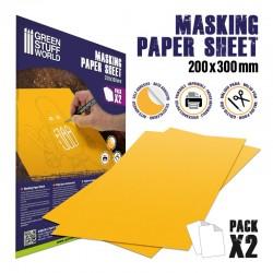 Masking paper sheets (x2).