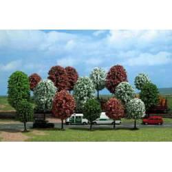 18 árboles ornamentales.