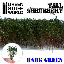 Tall shrubbery, dark green.