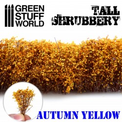 Tall shrubbery, autumn yellow.